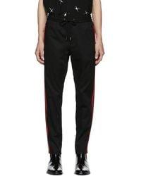 Dolce & Gabbana - Black Striped Trousers - Lyst