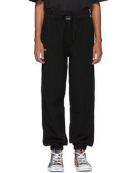 Vetements - Black Oversized Inside-out Lounge Pants - Lyst