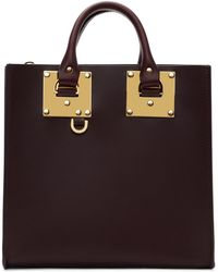 Sophie Hulme - Burgundy Square Albion Tote - Lyst