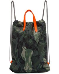 Alexander McQueen - Green And Orange Camo Drawstring Backpack - Lyst