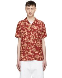 Levi's | Red And Yellow Lark Print Shirt | Lyst