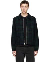 Noon Goons - Green Masque Tartan Plaid Harrington - Lyst