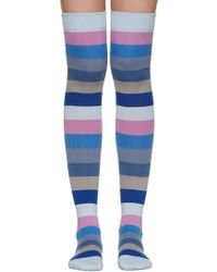 Marc Jacobs - Blue Striped Socks - Lyst