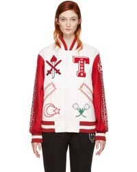 Opening Ceremony - White Turkey Global Varsity Jacket - Lyst