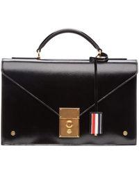 Thom Browne - Black Briefcase Bag - Lyst