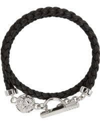 Versus - Black Braided Bracelet - Lyst