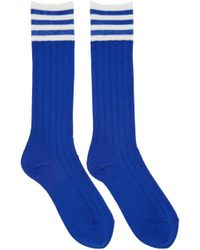 Undercover - Blue Striped Socks - Lyst