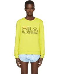 Gosha Rubchinskiy - Green Fila Edition Pullover - Lyst