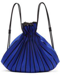 Issey Miyake - Blue Linear Knit Rucksack - Lyst