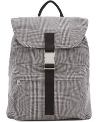 A.P.C. - Black & White Clip Backpack - Lyst