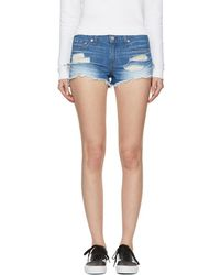Rag & Bone - Blue Denim Cut-off Shorts - Lyst