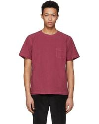 Schnayderman's - Red Poplin One Pocket T-shirt - Lyst