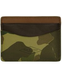 Rag & Bone - Green Camouflage Hampshire Card Holder - Lyst