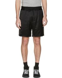 Marc Jacobs - Black Side Stripes Shorts - Lyst