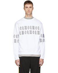 McQ - White Gothic Repeat Logo Clean Sweatshirt - Lyst