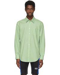 Martine Rose - Green Oversized Logo Shirt - Lyst
