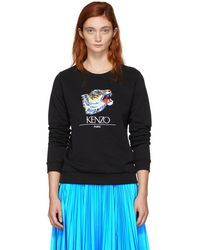 KENZO - Black Limited Edition Tiger Head Sweatshirt - Lyst