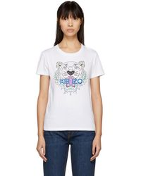 741ad7c78 KENZO - White Tiger Classic T-shirt - Lyst