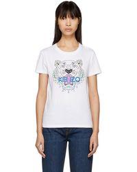 76b2e2199 KENZO - White Tiger Classic T-shirt - Lyst