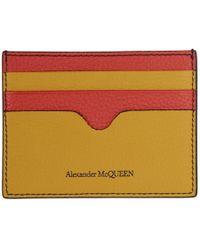 Alexander McQueen - Porte-cartes multicolore Sunflower - Lyst 3e40fd16d87