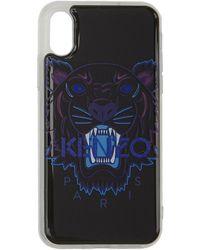 KENZO - Etui pour iPhone XS noir Tiger - Lyst