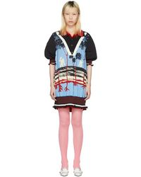 Undercover - Reversible Blue And Red Polo Dress - Lyst