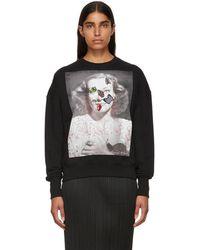 Alexander McQueen - Black Portrait Bug Embroidered Sweatshirt - Lyst