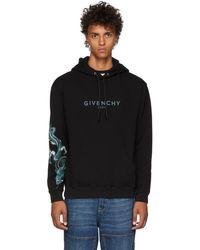 Givenchy - Black Dragon Capricorn Logo Hoodie - Lyst