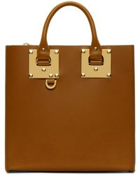 Sophie Hulme - Tan Square Albion Tote - Lyst