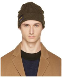Stella McCartney - Khaki 'members And Non Members Only' Beanie - Lyst