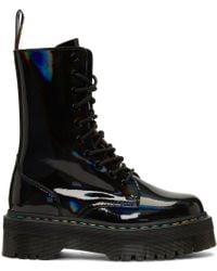 Dr. Martens - Black Rainbow Jadon Platform Boots - Lyst