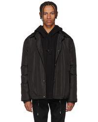 Yves Salomon - Black Technical Fur-lined Coat - Lyst