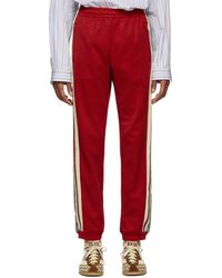 Gucci - Red Oversized GG Lounge Trousers - Lyst