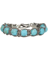 Emanuele Bicocchi - Silver And Blue Beaded Bracelet - Lyst