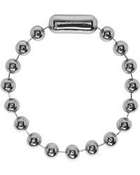 Balenciaga - Silver Metal Pearl Choker - Lyst