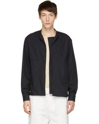 Lemaire - Blue Double Front Overshirt Jacket - Lyst