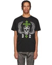 DSquared² - Black Pressed T-shirt - Lyst