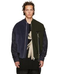 Song For The Mute - Blue And Green Coach Bomber Jacket - Lyst