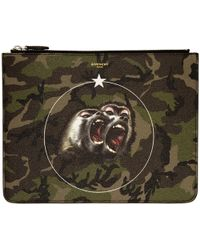 Givenchy | Green Camo Monkey Brothers Pouch | Lyst