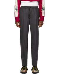 Gucci - Grey Flannel Wool Trousers - Lyst