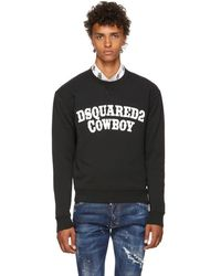 DSquared² - Black Cowboy Sweatshirt - Lyst