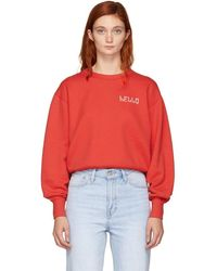 Rag & Bone - Red Hello Sweatshirt - Lyst