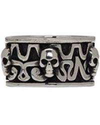 Alexander McQueen - Silver Viking Skull Ring - Lyst