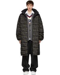 Fendi - Reversible Black Mania Coat - Lyst
