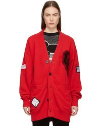 Opening Ceremony - Red Long Varsity Cardigan - Lyst