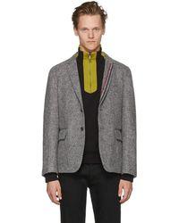 Thom Browne - Grey Unconstructed Classic Stripe Blazer - Lyst