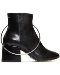 MM6 by Maison Martin Margiela - Black Ring Boots - Lyst