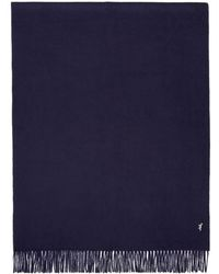 Maison Kitsuné - Navy Small Fox Wool Scarf - Lyst