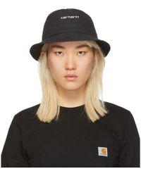 Carhartt WIP - Black Script Bucket Hat - Lyst