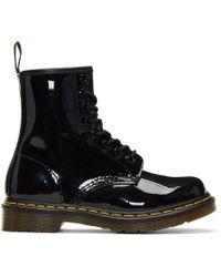 Dr. Martens - Black Patent 1460 Boots - Lyst